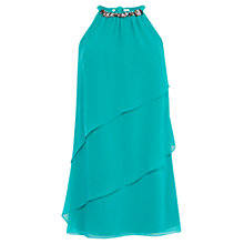 Buy Coast Jocee Neck Trim Dress, Jade Online at johnlewis.com