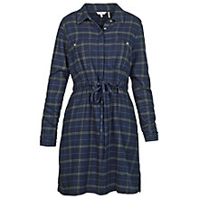Buy Fat Face Check Shirt Dress, Navy Online at johnlewis.com