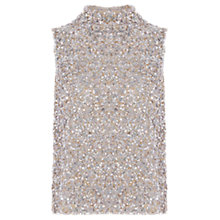 Buy Coast Ricco Sequin Top, Silver Online at johnlewis.com