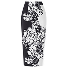 Buy Coast Persephone Mono Floral Skirt, Mono Online at johnlewis.com