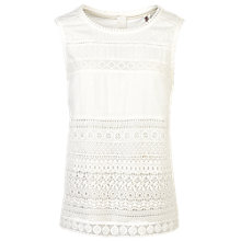 Buy Fat Face Allegra Lace Shell Camisole, White Online at johnlewis.com