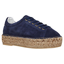 Buy KG by Kurt Geiger Lovebug Flat Low Top Trainers, Navy Online at johnlewis.com
