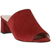 Buy L.K. Bennett Dana Block Heeled Mule Sandals, Rust Suede Online at johnlewis.com