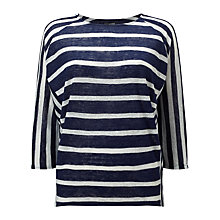 Buy Phase Eight Carris Stripe Top, Navy/Ivory Online at johnlewis.com