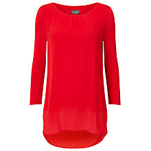 Buy Phase Eight Bonnie Longline Blouse, Tomato Online at johnlewis.com
