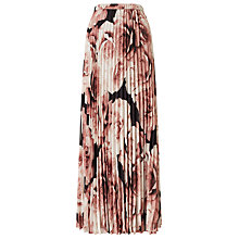 Buy Jacques Vert Plisse Maxi Skirt, Multi Online at johnlewis.com