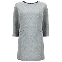 Buy Phase Eight Zia Ottoman Tunic Top, Grey Marl Online at johnlewis.com