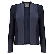 Buy Phase Eight Alberney Crepe Jacket, Navy Online at johnlewis.com