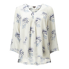 Buy Phase Eight Keira Floral Blouse,  Ivory/Blue Online at johnlewis.com