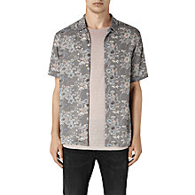 Buy AllSaints Hydrangea Floral Short Sleeve Shirt, Grey Online at johnlewis.com