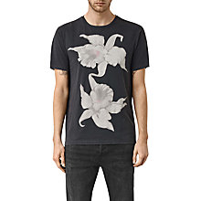 Buy AllSaints Canna Short Sleeve T-Shirt, Vintage Black Online at johnlewis.com