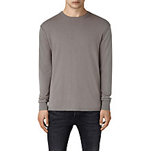 Buy AllSaints Dayce Crew Neck Sweater, Military Grey Online at johnlewis.com