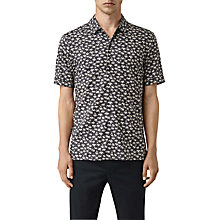 Buy AllSaints Salix Summer Print Short Sleeve Shirt, Washed Black Online at johnlewis.com