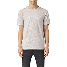 Buy AllSaints Camo Short Sleeve T-Shirt, Ash Pink Online at johnlewis.com