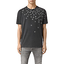 Buy AllSaints Lucky Short Sleeve T-Shirt, Vintage Black Online at johnlewis.com