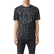 Buy AllSaints Cloud Camo T-Shirt, Vintage Black Online at johnlewis.com