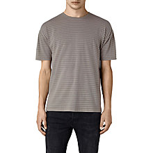 Buy AllSaints Slammers Striped Short Sleeve T-Shirt, Putty Online at johnlewis.com
