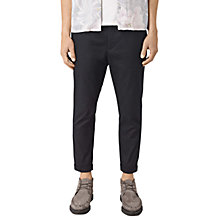 Buy AllSaints Carlow Slim Fit Trousers, Black Online at johnlewis.com