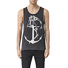 Buy AllSaints Hope Anchor Print Vest, Vintage Black Online at johnlewis.com