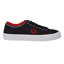 Buy Fred Perry Kendrick Canvas Trainers, Navy Online at johnlewis.com
