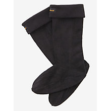 Buy Barbour Wellie Socks, Black Online at johnlewis.com