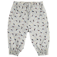 Buy Wheat Baby Sarah Bird Print Trousers, Blue Online at johnlewis.com