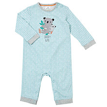 Buy John Lewis Baby Koala Daddy Romper Playsuit, Blue Online at johnlewis.com