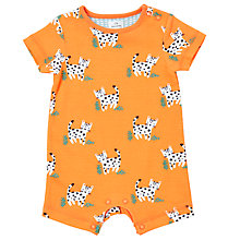 Buy John Lewis Baby Leopard Romper Playsuit, Orange Online at johnlewis.com