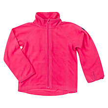Buy Polarn O. Pyret Children's Zipped Fleece, Pink Online at johnlewis.com