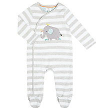 Buy John Lewis Baby Appliqué Elephant Stripe Sleepsuit Online at johnlewis.com