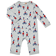 Buy John Lewis Baby Soldier Print Romper, Grey Online at johnlewis.com