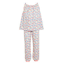 Buy John Lewis Children's Floral Print Pyjamas, Pink Online at johnlewis.com