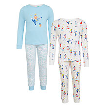 Buy John Lewis Children's Music Themed Pyjamas, Pack of 2, Multi Online at johnlewis.com
