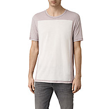 Buy AllSaints Bric Crew Neck T-Shirt, Ash Grey/Chalk White Online at johnlewis.com