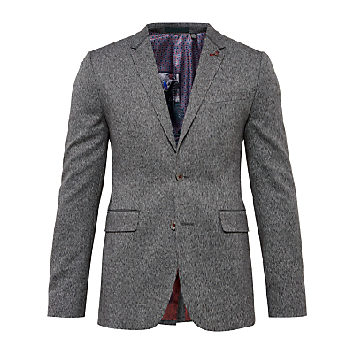 Image of Ted Baker Lincon Herringbone Suit Jacket, Charcoal
