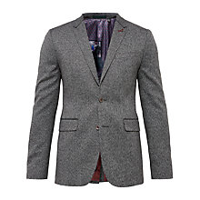Buy Ted Baker Lincon Herringbone Suit Jacket, Charcoal Online at johnlewis.com