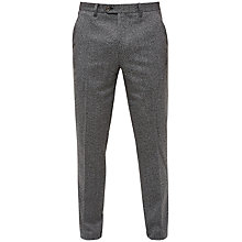 Buy Ted Baker Linctro Herringbone Suit Trousers, Charcoal Online at johnlewis.com