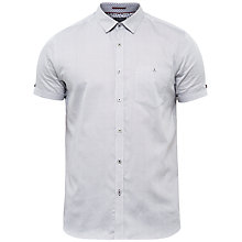 Buy Ted Baker Newcool Geo Print Cotton Shirt, Navy/White Online at johnlewis.com