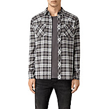Buy AllSaints Colville Slim Fit Check Shirt, Black/Grey Online at johnlewis.com