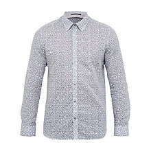 Buy Ted Baker Toright Floral Print Cotton Linen Shirt Online at johnlewis.com