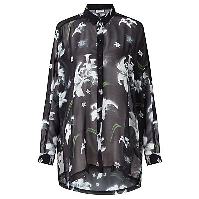Numph Adorabella Floral Print Shirt, Caviar
