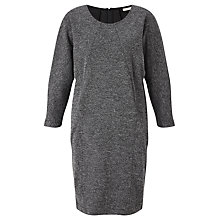 Buy Numph Kamikla Boxy Sweat Dress, Caviar Online at johnlewis.com
