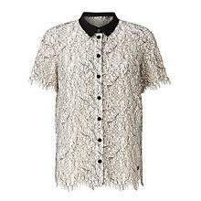 Buy Numph Marisabel Lace Shirt, Cloud Danger Online at johnlewis.com