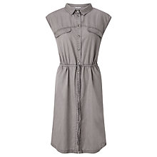 Buy Numph Callida Sleeveless Shirt Dress, Grey Online at johnlewis.com