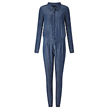 Buy Numph Dorika Denim Jumpsuit, Blue Online at johnlewis.com