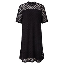 Buy Numph Majesta Lace Dress, Caviar Online at johnlewis.com
