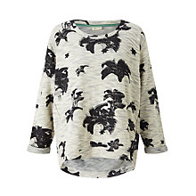 Buy Numph Nikolana Floral Print Sweatshirt, Light Grey Melange Online at johnlewis.com
