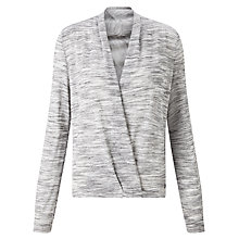 Buy Numph Arrian Crossover Cardigan, Grey Melange Online at johnlewis.com