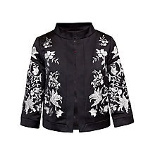 Buy Ted Baker Abhy Embroidered Wide Collar Jacket, Black Online at johnlewis.com