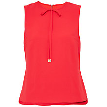 Buy Ted Baker Natalle Bow Neckline Top, Bright Red Online at johnlewis.com